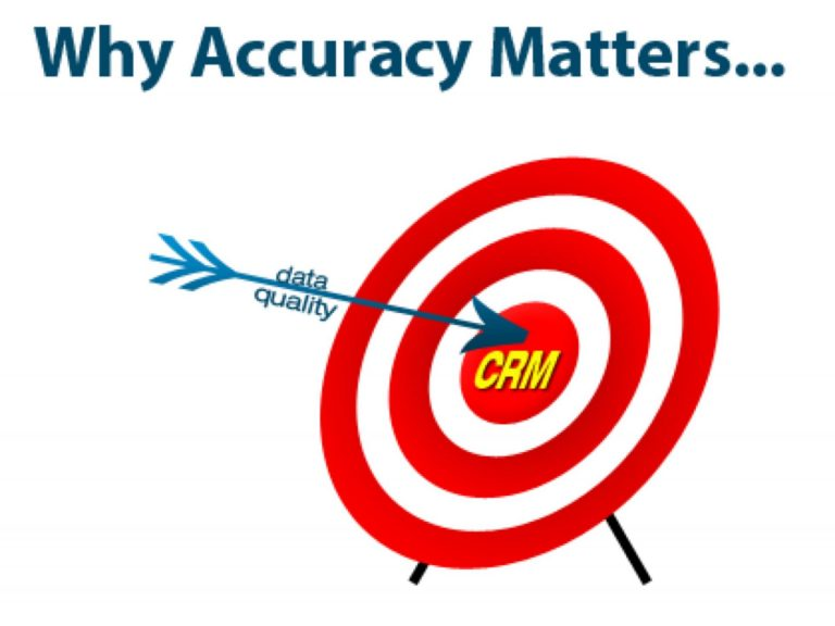 CRM data quality accuracy