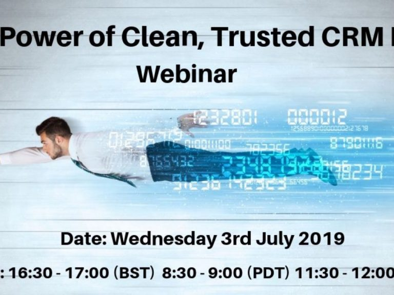 The Power of Clean Trusted CRM Data