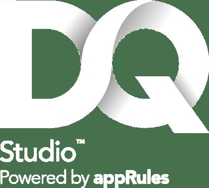 DQ Studio Logo White
