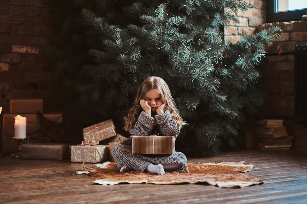 Girl unhappy with present