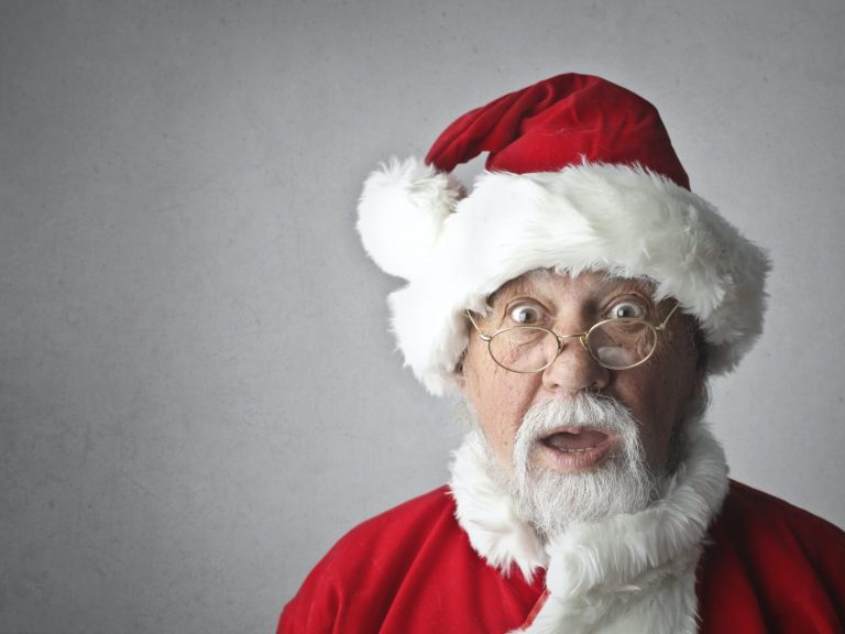 Worried Santa Claus